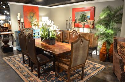Featuring hand-crafted, hand-finished, customizable dining, occasional, and bedroom furniture.