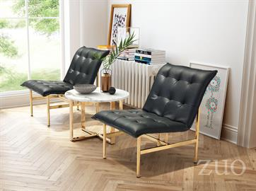 Simply stated the Slate chair features a Modern armless lounge chair design to plush seat/ back; elegantly tufted and upholstered for ultimate all day comfort and supported by sturdy stainless steel cross style base in stunning brilliant Gold.
