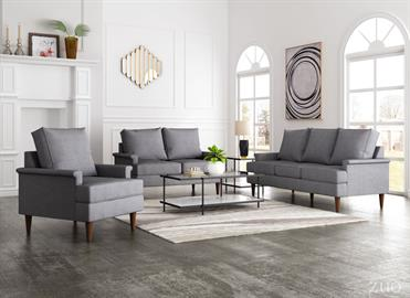 Campbell Collection is sized right with the perfect amount of depth to provide support where you need it. The cut back rolled arms and generous seat cushions have a self-welt for a designer touch. Its mid-century tapered legs give it stability and elevate the look. Place a pair with the matching loveseat or sofa, sold separately, to complete your room setting.