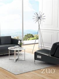 Stylish and functional, the Thor Collection features a modern design with smooth leatherette fabric on sleek profile and accented with slim chrome frame. USB panels on outside panels add easy access in charging electronics. Each port houses three USB ports for all your charging needs while relaxing in style. Color options include black and white leatherette for both arm chair and sofa.