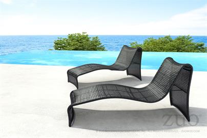 Architectural mastery as the Rocky Beach Lounge features a slim continuous profile for lounging poolside and enjoying the rays. Molded for ultimate enjoyment and made from galvanized aluminum frame in espresso woven resin.