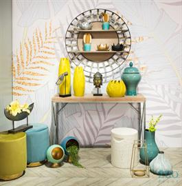 ZUO Decor's dynamic collections of bold, brightly colored accessories and home decor, will add dimension to your designs