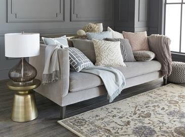 Soft, sumptuous and inviting, Surya pillows and throws are available in a wide range of luxe materials and distinctive textures – for refined looks with timeless style.