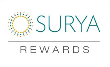 Our free and easy-to-join loyalty program rewards our customers for achieving key sales milestones. Built-in flexibility enables customers to earn either Surya Points or popular consumer reward program currencies such as airline miles, hotel points and gift card points.