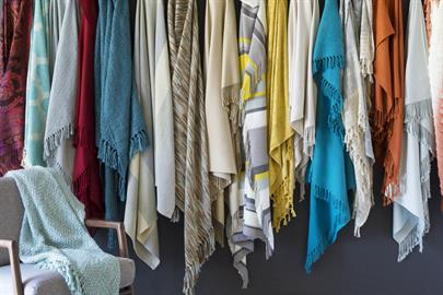 Surya's diverse throw collection includes cozy and stylish looks for every space – in a range of materials, including, bamboo, cotton, cashmere, silk, viscose and wool.