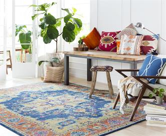 Surya offers more than 1,300 machine-made rugs in a wide range of styles, colors, materials and price points. Innovative materials and techniques are used to create eye-catching designs that resemble artisan crafted, hand-knotted looks.