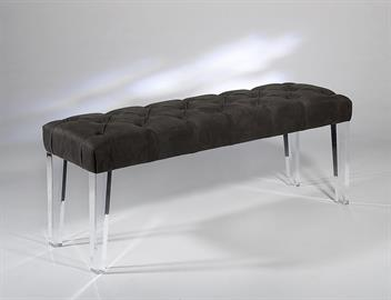 Cast Acrylic leg bench Select fabrics/COM