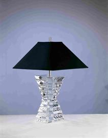 Cast  Acrylic table lamp w/shade