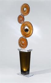 cast acrylic sculpture-handpainted w/pedestal