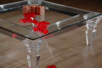 "Cast Acrylic coffee table ""Fantasia"" Collection"