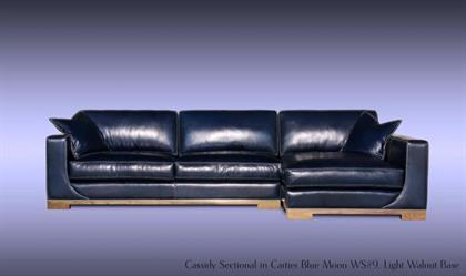 Cassidy Sectional Sofa in Italian Leather