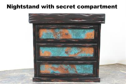 Oxidized Copper Nightstand