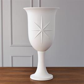 Our Compass Rose Urn is sure to point you in the right direction. Large in scale, this handcrafted ceramic piece is made in Portugal.