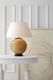 Alexa Hampton for Visual Comfort Hugo table lamp in gilded wood sets the trend this season