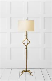 Suzanne Kasler Quatrefoil floor lamp sets the standard for today's interiors.