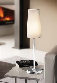 The 6263 shaded table lamp is equipped with a low/high/off switch. The fabric shades are hand-washable.