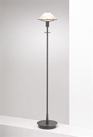 Lighting for the Aging Eye: Holtkoetter No. 6515 floor lamp has innovative dimming technology - turn the stem and the lamp dims. This modern floor lamp adds style and versatility to virtually any decor. Equipped with a 100 Watt Halogen bulb by Osram.  Pair it with the matching table lamp 6514, wall sconce 9426, or swing-arm floor lamp 9434. Due to the unique qualities of hand-blown glass, slight variations in color are to be expected.