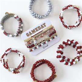 Our gameday collection is full of colors to mix and match creating the perfect gameday stacks! Earrings, Sets, Necklaces, Mixers, Slinkies
