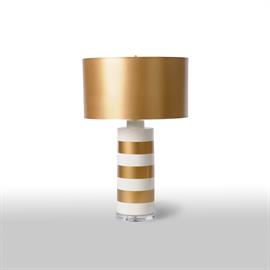Gold & White Lamp with gold shade