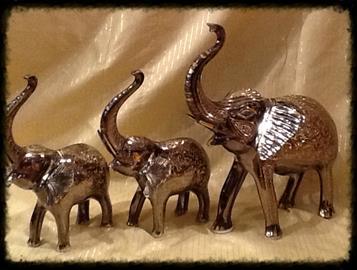"Hand Engraved, Real Brass Elephants Sizes Available: 6"", 8"", 12"", 16"", 24"", 36"" and 42"""