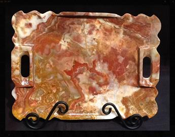 Serving Tray carved out of Real Onyx Stone.