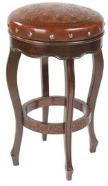 Spanish leather barstool