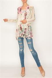 ALL LACE PRINTED CARDIGAN