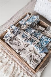 Beyond Borders Home Decor Collection - Handprinted coasters and table runner