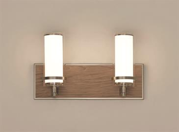 Arden LED Vanity features wood and metal finishes