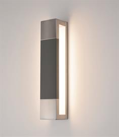 Post LED Sconce with Dark Grey finish