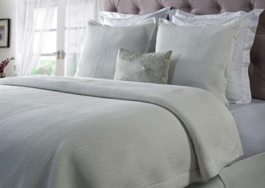 Our breezy cotton voile bedding is quilted with lean rows of detailed channel stitching. The quilt has an exceptionally soft feel which is enhanced by the natural texture of the fabric.