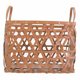 Hand-woven leather baskets, make a statement accessory for your home and work spaces with their rugged durability. Available in two sizes and colors, they are perfect so as to accommodate your collection of books, magazines or really just about anything.