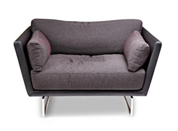 Sleek on the outside and comfy on the inside,Graham brings the luxury of rumpled down cushions to modern design. Rectangular metal bases, merge beautifully with the sleek frame while the back and seat cushions wrap you in comfort. Graham is a bit rumpled, perfect for the everyday living, and yet always sophisticated
