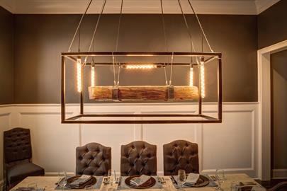 This hand-made metal frame is the perfect way to showcase a piece of our historic lines.  This light comes with your choice of frame finish,  brown or natural beam and size.