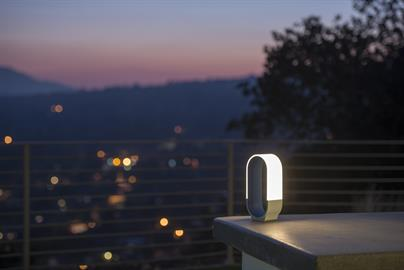 mr.GO!, a sister product line to the Mr. n table light, is designed with an ultra minimalist silhouette and features the unique curved light panel design from the Mr. n. The arched light panel and curved housing act as a natural handle to carry the portable lantern around with you. Charge the built-in, powerful batteries using the USB port and enjoy the portability of a cordless light. The lamp offers 5000mAh amount of stored energy, so take it anywhere you go. A standard USB output port is available allo