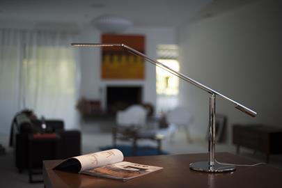 When the best in design meets clever engineering, the result is the unique Equo collection. Supported by a pencil-thin body attached to a weighted base, the sleek and elegant desk lamp seems to defy gravity. Mounted to the body is a counterbalanced arm that can move the LED light head up and down and place the light where it is desired with a simple one-finger touch. Extend the slim body to about four feet in height and you have the Equo floor lamp. This incredible collection provides a thin yet functiona