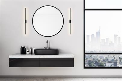 The Z-Bar Wall Sconce is a sleek new addition to the Z-Bar family. It can be utilized to highlight artwork or a mirror. Mounted solo, it can be appreciated as its own work of modern art. It can be hung horizontally, vertically, even diagonally on a wall or ceiling. The slim LED bar is rotatable, allowing users freedom to direct the light.