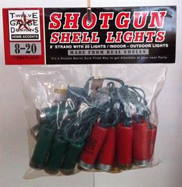 Party Lights made from recycled shotgun shells.  8' strand with 20 lights