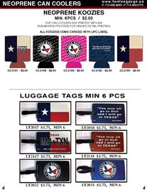 Our luggage tags a great way to identify your luggage, golf bag, school bag.  Our neoprene can coolers are printed using ink sublimation for true vivid colors.