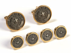 Our Texas State Seal Tuxedo set is a original Twelve Gauge Designs.  Do not confuse our product with inferior knock off products.