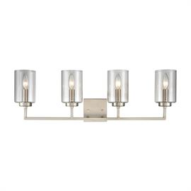 West End 4-Light Bath Light in Brushed Nickel with Clear Glass
