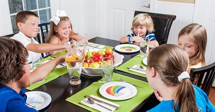 Make mealtime more meaningful with these adorable, dishwasher-safe, BPA-free children's plates!