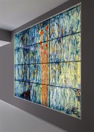 CONTEMPORARY ABSTRACT WALL ART GLASS
