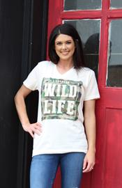 "We love camo and this design titled ""I Support Wild Life."""