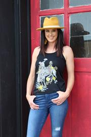 "Want a design fun and funky with the trending addition of snake skin? Than our ""Snakey Bronc"" design is for you!"