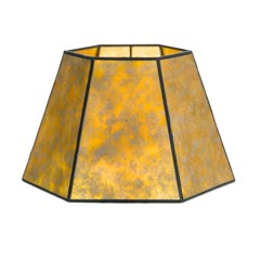Golden Mica Hexagon lamp shade