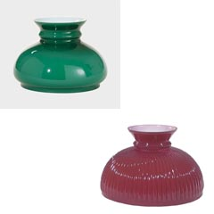 cased green lamp glass