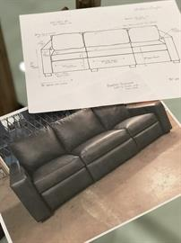 CUSTOM RECLINING SOFA