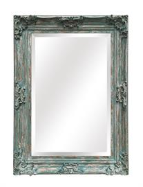 "French Country style, Solid Wood Frame , hand antiqued finishes, 1"" Bevel Edge Mirror Dimension: 32 1/4""x 44""x 3"" 5 Finishes: Champagne, Ant Silver, Black, French Blue, French Ivory"