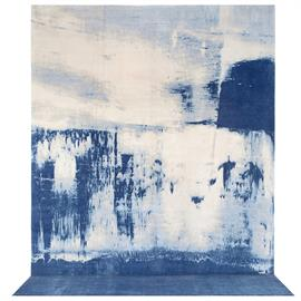The art translated to a collection of rugs. Hand knotted wool + silk.